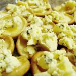 Shitake com gorgonzola ao forno