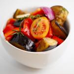 Legumes assados ou conserva de legumes