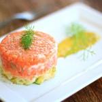 Ceviche de salmão e maçã verde