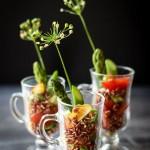Salada de Pipoca de Arroz Vermelho