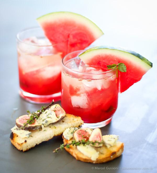 Bruschetta de figos e gorgonzola