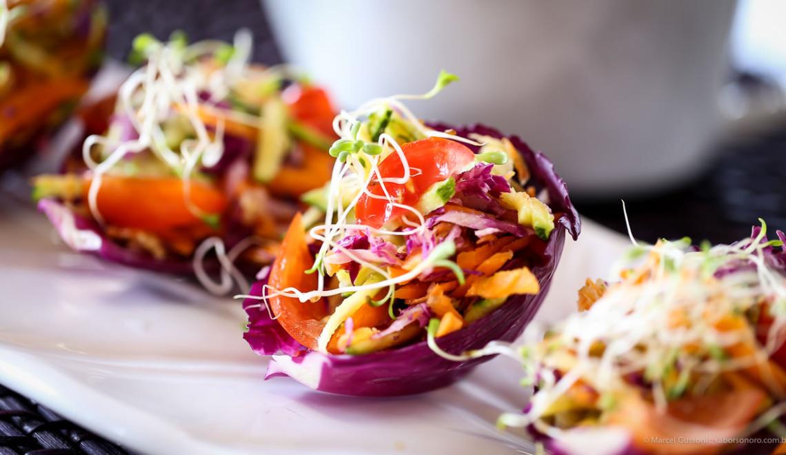 salada na conchinha